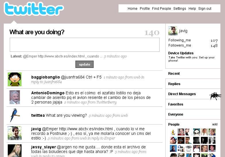 Rediseño temporal Twitter (click para ampliar)