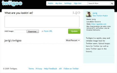 Captura de Twitgoo
