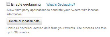 enable geotagging