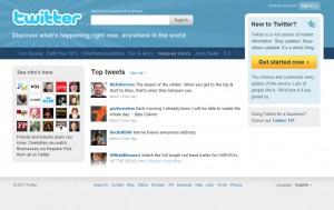 Homepage nueva de Twitter