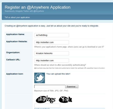 hovercards @anywhere register form