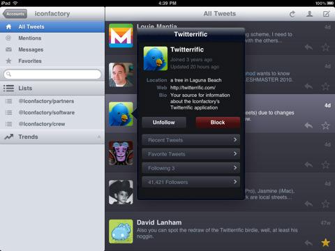 Twitterrific para iPad