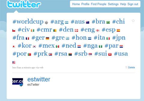 Twitter Mundial Hashtags