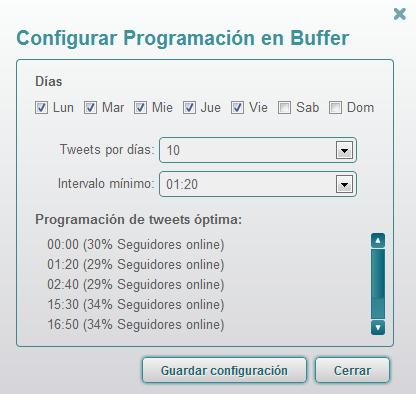 Configurar Buffer