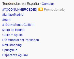 hashtag promocionado yoconunmerecedes
